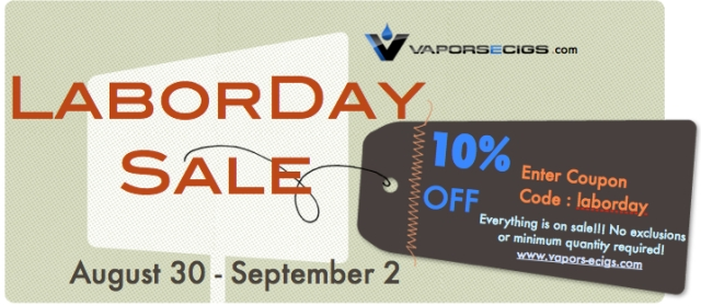 Vapors-ecigs Labor Day Sale